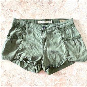 Zara olive green Bermuda short shorts size 6